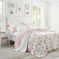 Laura Ashley® Libby Reversible Twin Quilt Set in Apricot