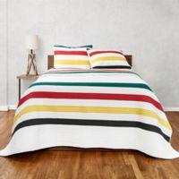 Pendleton® Glacier Stripe Twin Quilt in White