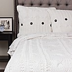 Amity Home Cable Knit Queen Coverlet in White