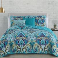 Misha Reversible King Quilt Set in Mint