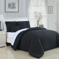 Avondale Manor Minnie Reversible Queen Comforter Set in Black/White