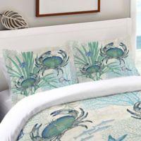 Laural Home® Blue Crab Standard Pillow Sham in Blue