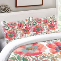 Laural Home® Bohemian Poppies Standard Pillow Sham in Pink