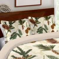 Laural Home® Pinecone Standard Pillow Sham in Green