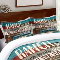 Laural Home® Southwest Ranch Rules Standard Pillow Sham in Blue