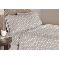 Pointehaven Bunnies Twin/Twin XL Duvet Cover Set in Grey/White