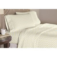 Pointehaven Pineapple Twin/Twin XL Duvet Cover Set in Yellow/White