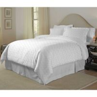 Pointehaven Stars Dance Twin/Twin XL Duvet Cover Set in Grey/White