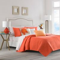 Trina Turk® Palm Desert King Quilt Set in Dark Orange