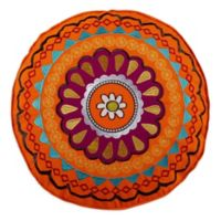 Levtex Home Phoenix Round Embroidered Throw Pillow in Orange