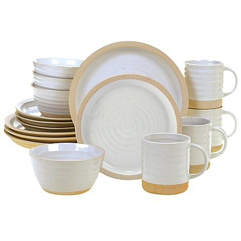 image of Certified International Artisan 16-Piece Dinnerware Set