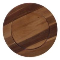 Certified International Acacia Wood Charger Plates (Set of 4)