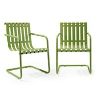 Crosley Gracie Indoor/Outdoor Chairs in Green (Set of 2)