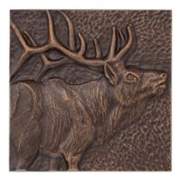 Whitehall Products Elk 8-Inch Square Aluminum Wall Art in Copper