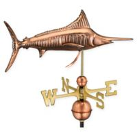 Good Directions Marlin Weathervane in Pure Copper