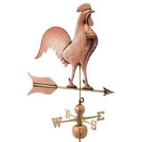 Good Directions Barn Rooster Estate Weathervane in Pure Copper