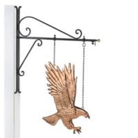 Good Directions Hanging Bald Eagle Pure Copper Weathervane Sign in Copper