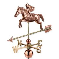 Good Directions Jumping Horse and Rider Weathervane in Copper