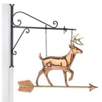 Good Directions White Tail Buck Hanging Wall Sculpture in Pure Copper