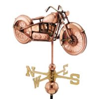 Good Directions Motorcycle Weathervane in Copper