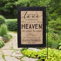 Heaven In Our Home Burlap Garden Flag