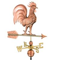 Good Directions Proud Rooster Weathervane in Copper