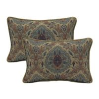 Bombay® Tivoli Damask Outdoor Oversize Lumbar Pillows with Welt (Set of 2)