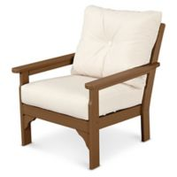 POLYWOOD® Vineyard Deep Seat Chair in Teak/Beige