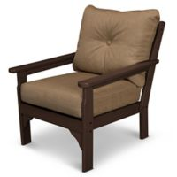 POLYWOOD® Vineyard Deep Seat Chair in Mahogany/Sesame