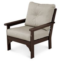 POLYWOOD® Vineyard Deep Seat Chair in Mahogany/Ash
