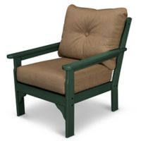 POLYWOOD® Vineyard Deep Seat Chair in Green/Sesame