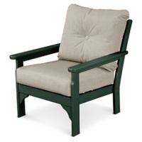 POLYWOOD® Vineyard Deep Seat Chair in Green/Ash