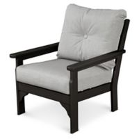POLYWOOD® Vineyard Deep Seat Chair in Black/Granite