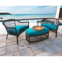 Leisure Made Madison 3-Piece Outdoor Patio Set in Peacock