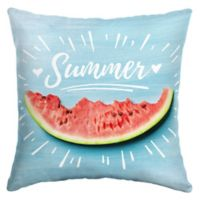 Selections by Arden Summer Sketch Square Outdoor Throw Pillow in Blue