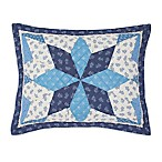 Nostalgia Home™ Nathan Standard Pillow Sham in Navy/Ivory
