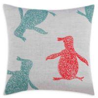 Original Penguin® Vaughn Scribbled Square Throw Pillow in Medium Grey