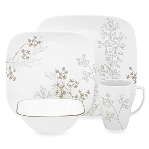 Corelle® Square™ Shadow Dance 16-Piece Dinnerware Set  sc 1 st  Bed Bath u0026 Beyond & Corelle® Square™ Shadow Dance 16-Piece Dinnerware Set - Bed Bath ...
