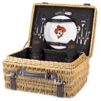 Oklahoma State University Champion Picnic Basket with Service for 2 in Black