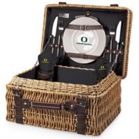 University of Oregon Champion Picnic Basket with Service for 2 in Black