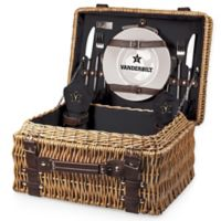 Vanderbilt University Champion Picnic Basket with Service for 2 in Black