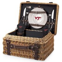 Virginia Tech Champion Picnic Basket with Service for 2 in Black