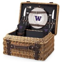 University of Washington Champion Picnic Basket with Service for 2 in Black