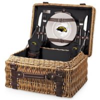 University of Southern Mississippi Champion Picnic Basket with Service for 2 in Black