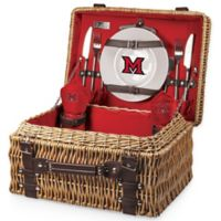 Miami University Champion Picnic Basket with Service for 2 in Red