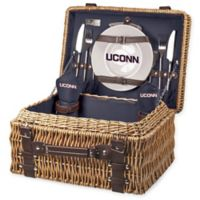 University of Connecticut Champion Picnic Basket with Service for 2 in Navy