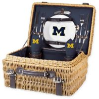 University of Michigan Champion Picnic Basket with Service for 2 in Navy