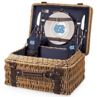 University of North Carolina Champion Picnic Basket with Service for 2 in Navy