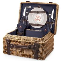 University of Virginia Champion Picnic Basket with Service for 2 in Navy