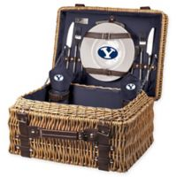 Brigham Young University Champion Picnic Basket with Service for 2 in Navy
